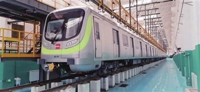 西安地铁5号线一期 首批列车动车调试